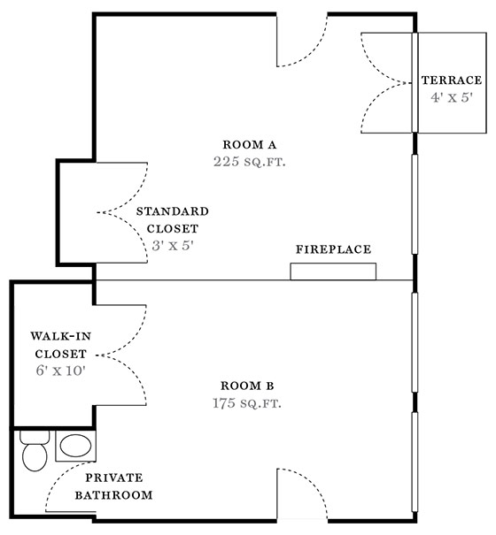 Floor plan miller samuel real estate appraisers for Square footage of a room