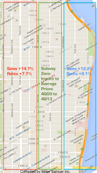 Second Ave Subway Map.Subwaymap Miller Samuel Real Estate Appraisers Consultants