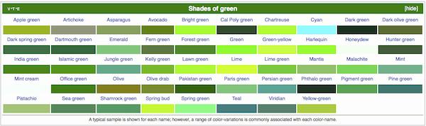shades of green600